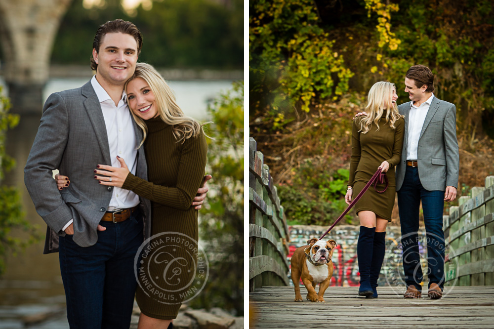 Stone Arch Bridge Engagement Session