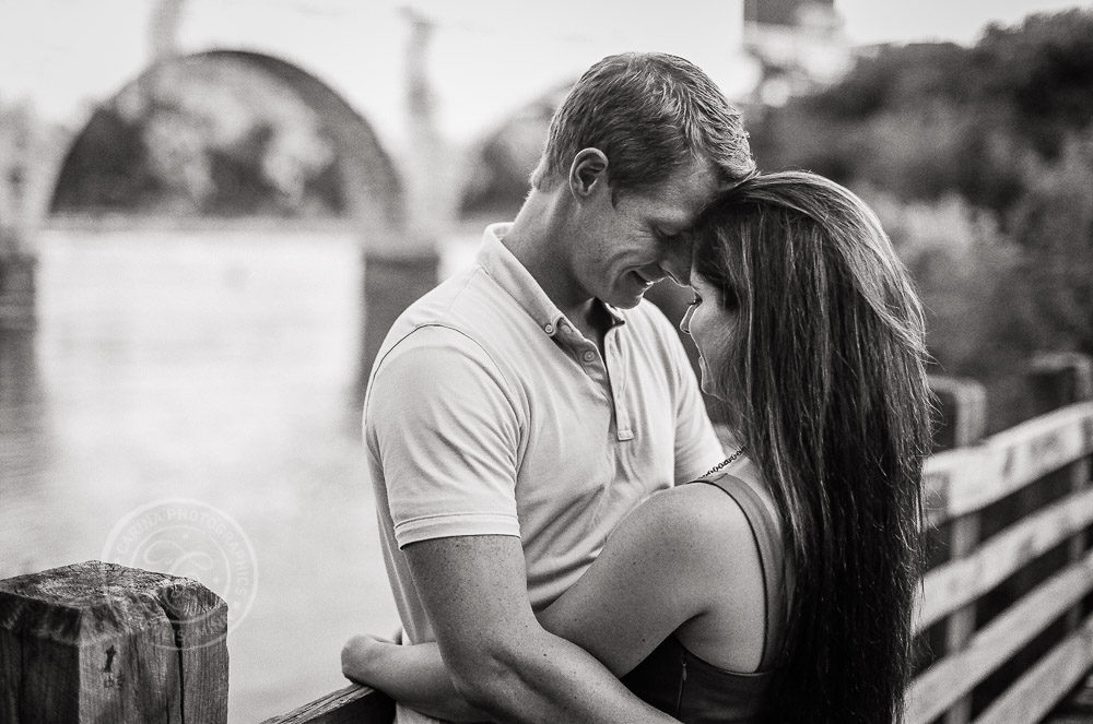 Minneapolis Stone Arch Bridge Engagement Photo