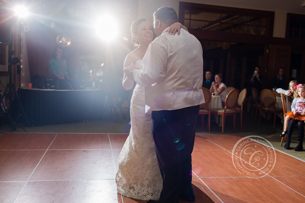 TPC Twin Cities Wedding Bride Groom Dance Photo