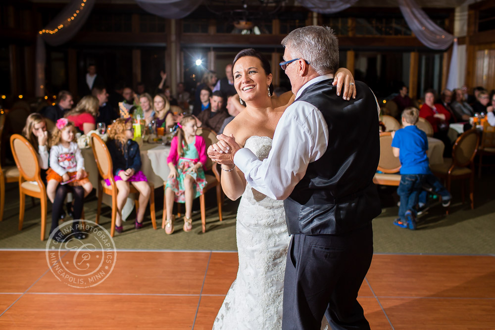 TPC Twin Cities Wedding Bride Dad Dance Photo